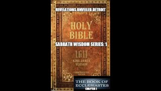 Sabbath WISDOM Series-Introduction-KING Solomon & Ecclesiastes.