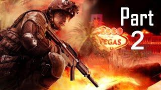 Rainbow Six Vegas 2 Walkthrough Gameplay Part 2 Campaign Mission 2 [ Old Vegas ]