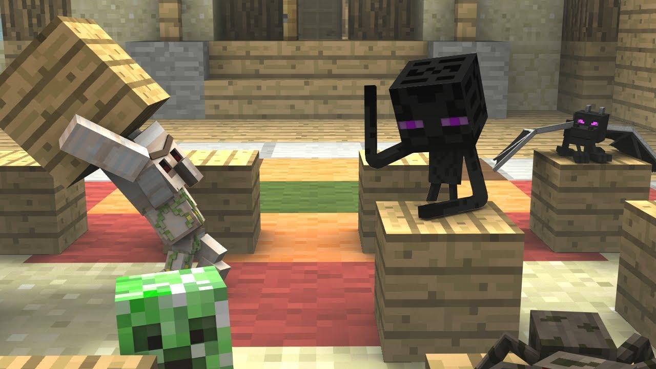 Monster School (Preschool) - Dodgeblock! - Minecraft Animation ...