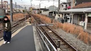 JR西日本可部線下祇園駅1番線/普通電車    広島行き電車到着動画