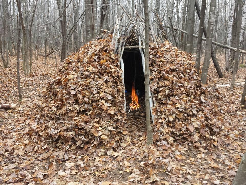 Bushcraft Forest Group Shelter Youtube