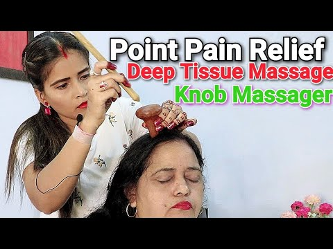 Point Head Massage - Deep Tissue massage | Knob massager by Cosmic lady barber