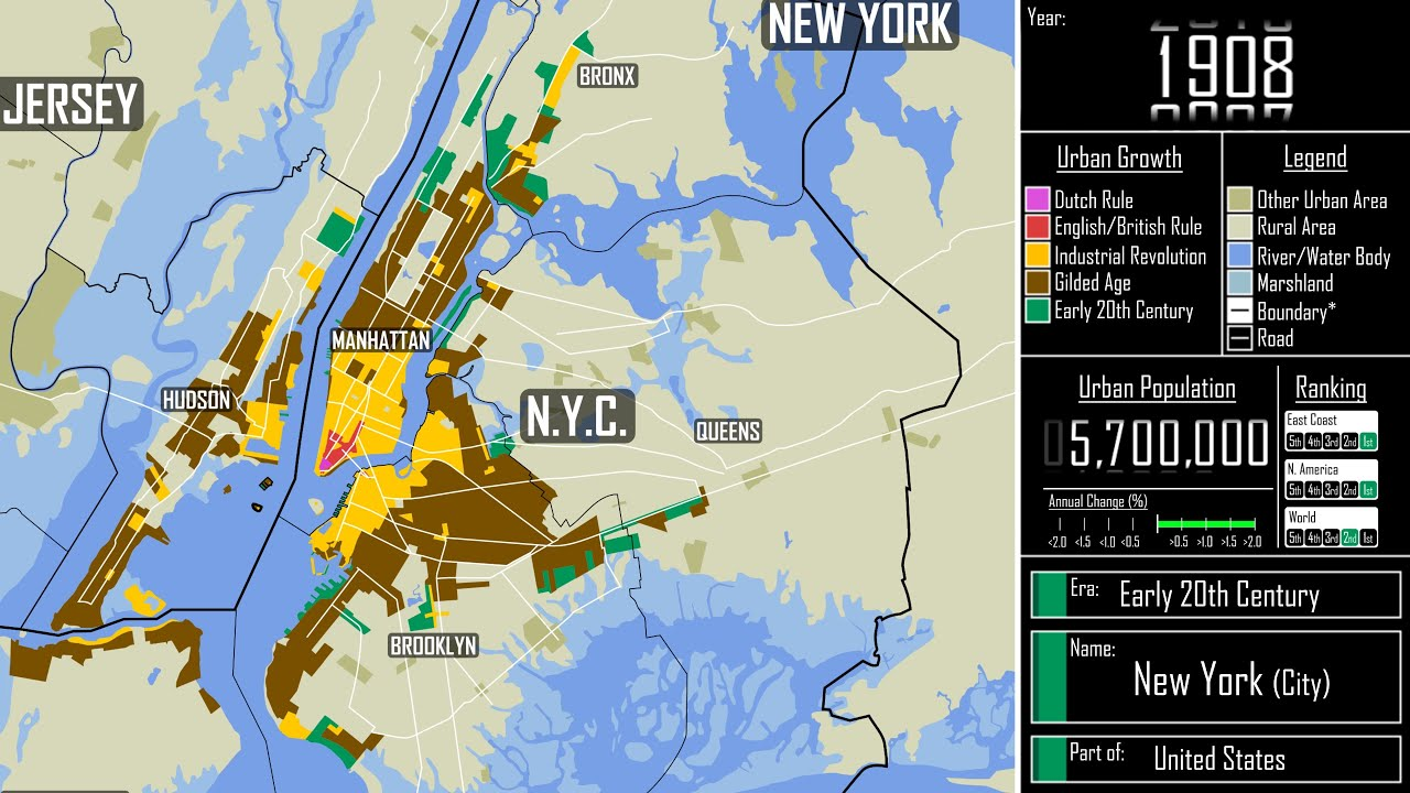 The Growth of New York City: Every Year