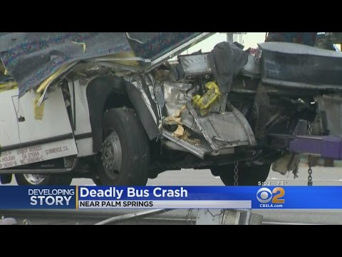 13 Dead, 31 Injured In Horrific Crash Between Tour Bus And Semi-Truck On 10 Freeway