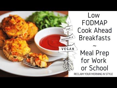 3 Cook Ahead Low FODMAP Breakfasts / Meal Prep for Work or School