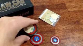 Review of Magnetic phone mount by CAW CAR ACCESSORIES. Captain America style looks so cool!