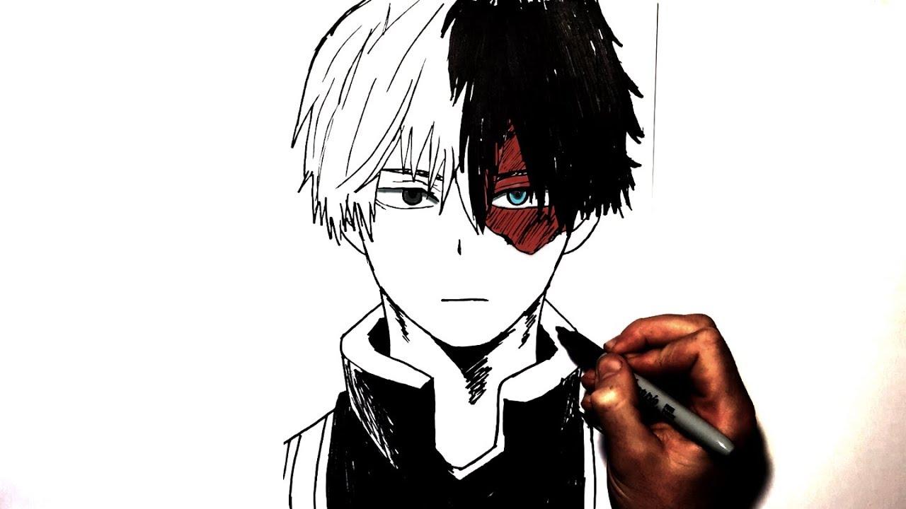 How To Draw Shoto Todoroki Step By Step My Hero Academia