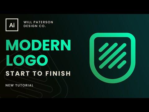 How To Design A Modern Tech Company Logo 🎉