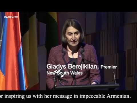 Premier of New South Wales Gladys Berejiklian remarks in Armenian