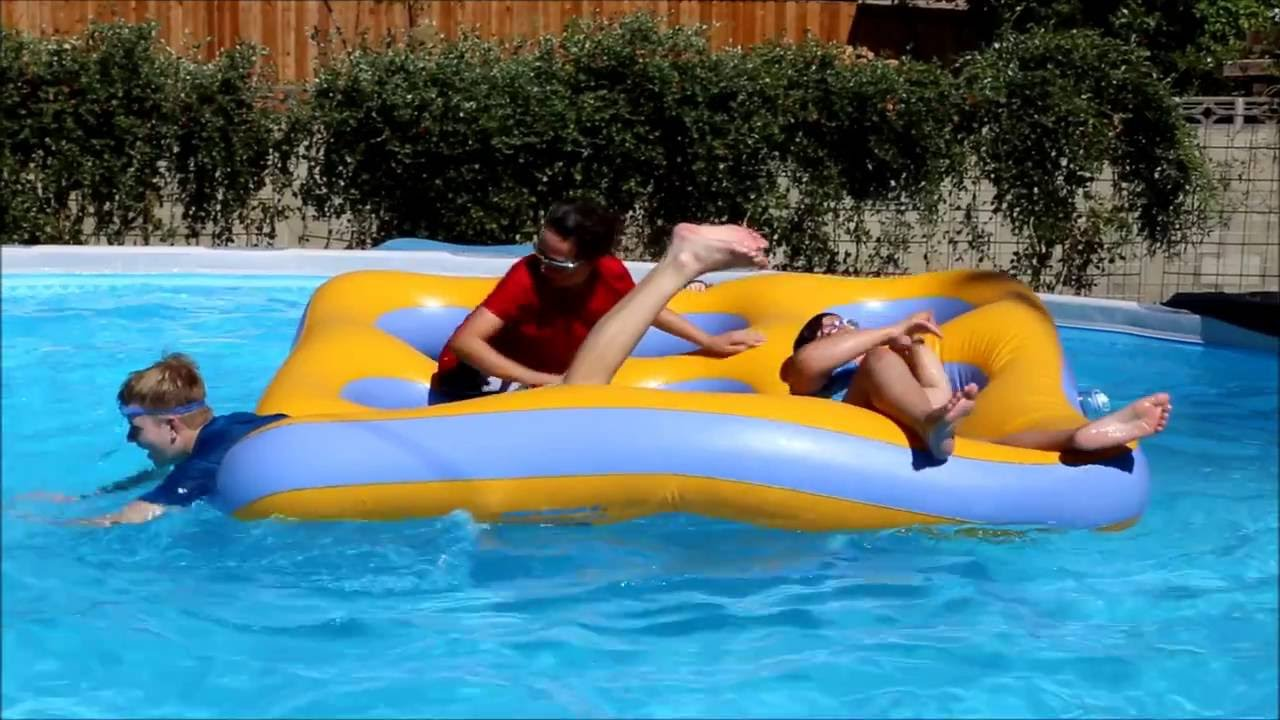 Swimline Labyrinth Island Inflatable Pool Toy Review - YouTube