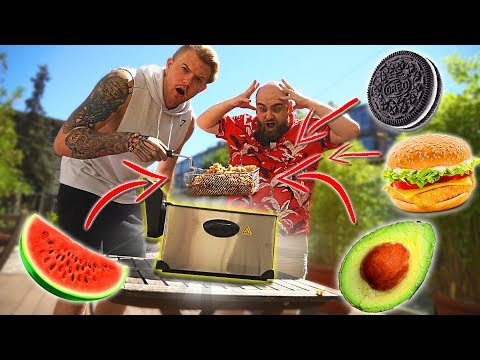Experiment: ALLES fritieren! (1 Kilo Mais, OREO, Marshmello, Wassermelone, uvm) Gadget Fun!