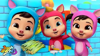Three Little Pigs Story   Pretend Play Song   Cartoon Stories for Kids   Nursery Rhymes by Kids Tv