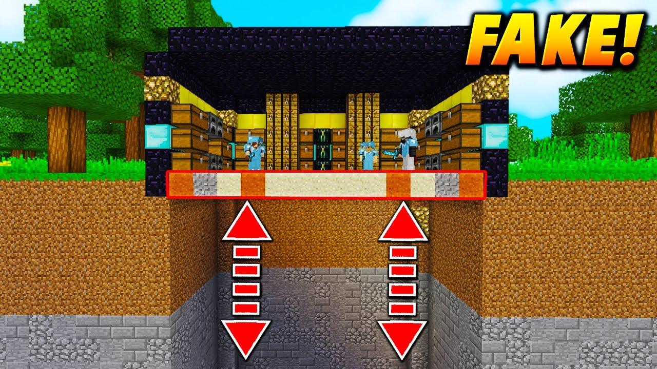 FAKE RICH HOUSE FALLING TROLL Minecraft TROLLING VOID FALL