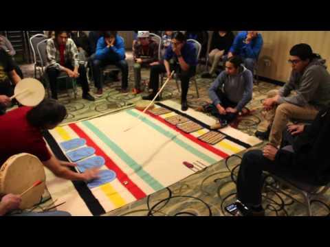 Ojibwe Moccasin Games at Anishinaabemowin Teg Language Conference 2016
