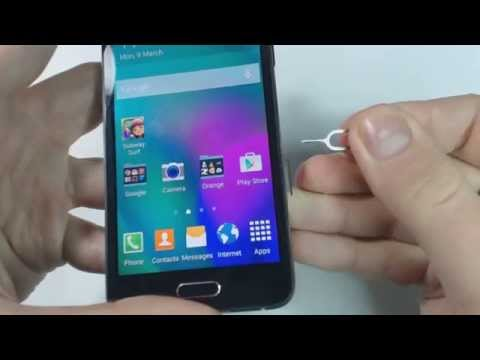 How to put sim card and memory card on Samsung Galaxy A3 A300F