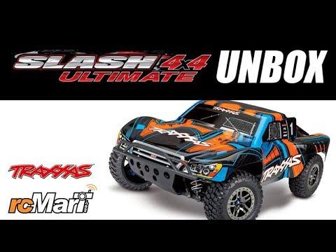 Traxxas Slash 4x4 Ultimate Pre-Painted Orange 1/10 4WD Short Course Unbox! #68077-4