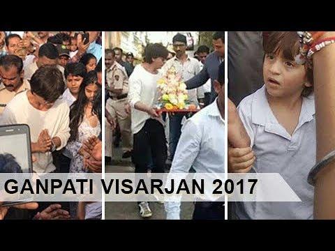 Shah Rukh Khan, AbRam, Suhana Khan Do Ganpati Visarjan Mp3