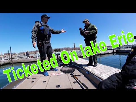 Ticket while fishing lake erie for smallmouth
