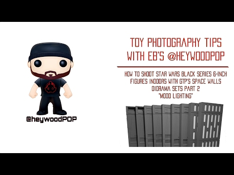How to Shoot Star Wars Black Series Figures Indoors with Space Walls Diorama Part 2