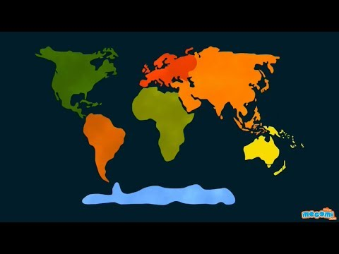 7 Continents of the World - Geography for Kids | Educational Videos by Mocomi