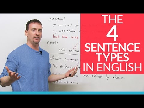 The 4 English Sentence Types – simple, compound, complex, compound-complex