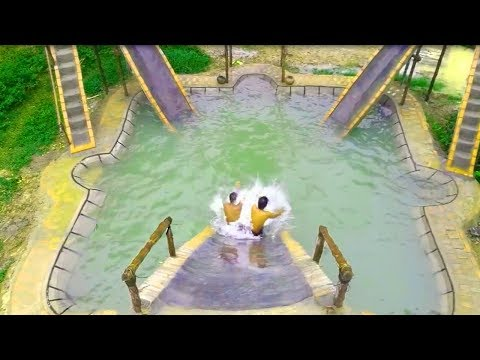 Build Big Swimming Pool & Water Slide for Swimming Pool (full video)