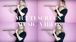 how to make multi-screen music videos | #flutelyfe with @katieflute