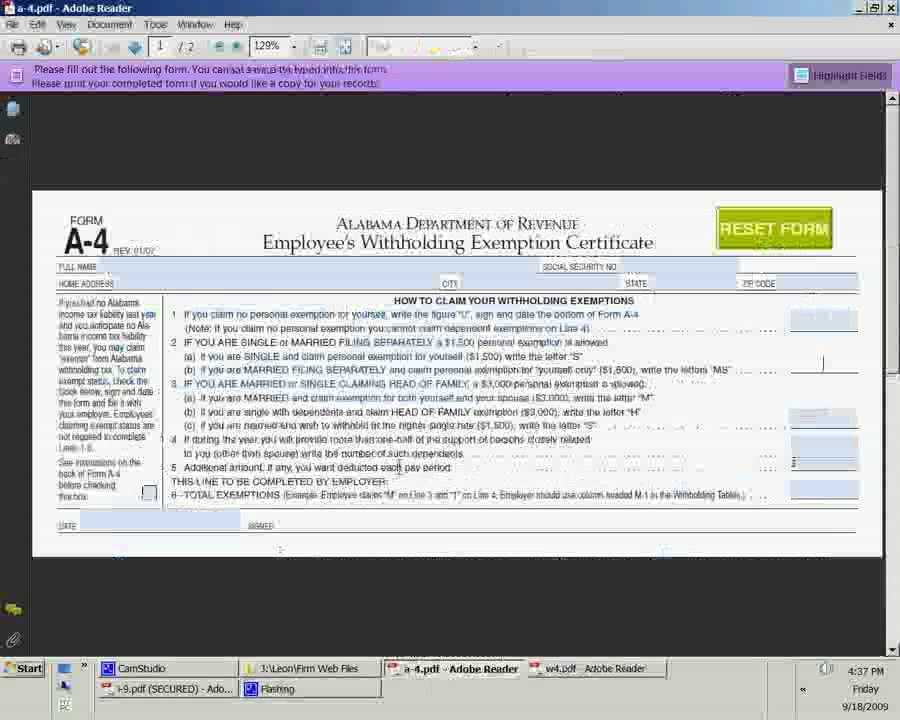 Form W4, A4, and I9 by Noel D. Tallon, CPA - YouTube