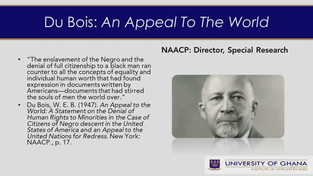Du Bois and the Human Rights Agenda