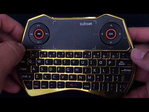 REVIEW ON THE  - SUBSET i28c GOLD CHROME MINI WIRELESS KEYBOARD CONTROLLER