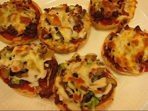 Bettys English Muffin Party Pizzas Youtube