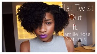 Flat Twist Out On Dry Hair Ft Camille Rose Naturals