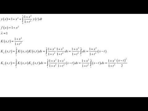Интегральное уравнение Вольтерра второго рода Пример решения методом разрешающего ядра