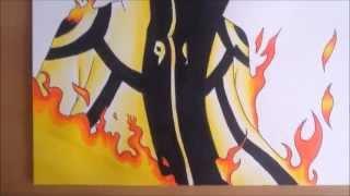 [Naruto] How to draw Naruto Kyuubi Chakra Mode / Comment dessiner Naruto Chakra de Kyuubi