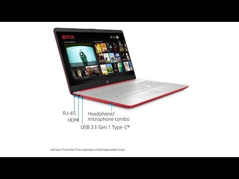 """2020 HP 15.6"""" HD LED Display Laptop, Intel Pentium Gold 6405U Processor, 4GB DDR4 RAM, 128GB SSD"""