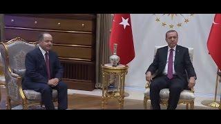 أردوغان يستقبل البارزاني في أنقرة