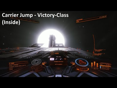 Elite Dangerous | Fleet Carrier Jump (Victory-Class) | Inside |  ATC Yumi | 1080p/60fps |
