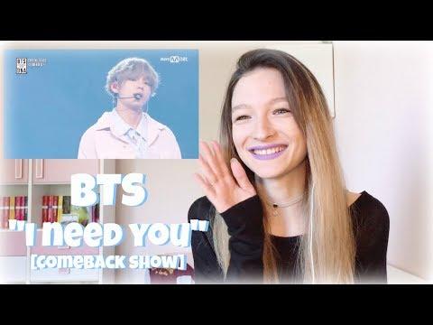 "BTS ""I need you"" [MNET Comeback Show] REACTION | Lili White"