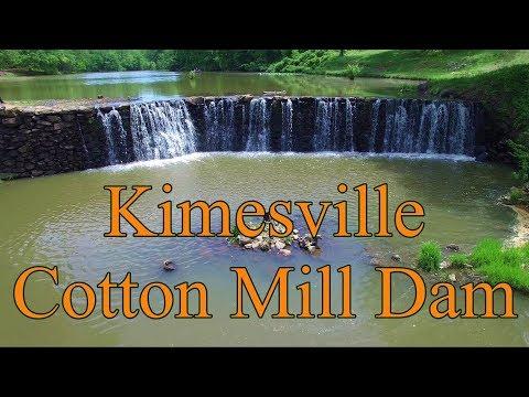 Aerial Views Of Kimesville Cotton Mill Site & Dam - Alamance County, NC