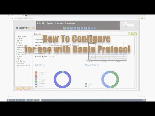 How to Configure Signamax C-300 Series Switch for Use with Dante Protocol