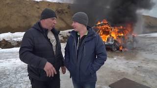 Сожгли автомобиль в Новосибирске (гараж 54)