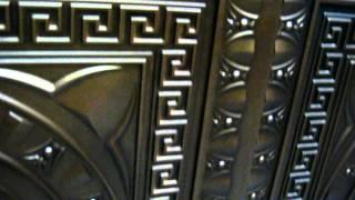 Faux Tin Ceiling Tiles in Antique Copper - DIY