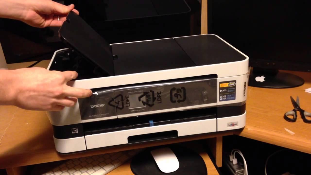 brother mfc j4410dw unboxing printer inkjet youtube. Black Bedroom Furniture Sets. Home Design Ideas
