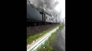 信越本線9時47分発9135列車臨時快速SL&ELぐんまよこかわ号(D51形498号機+旧型客車6両編成チョコレート塗装+EF64形37号機)