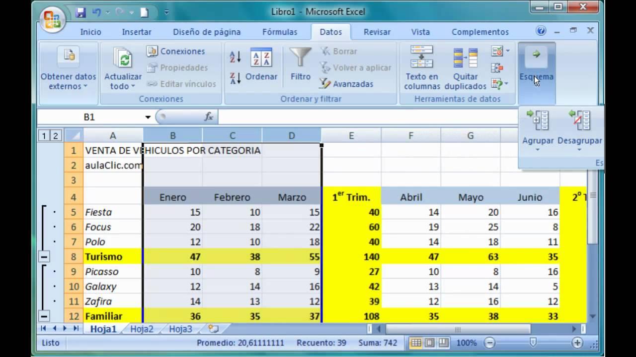 excel 2007 13 crear un esquema de forma manual youtube rh youtube com manual de excel 2007 completo pdf manual de excel 2010 en espanol gratis