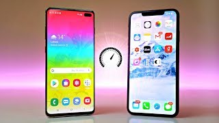 Samsung Galaxy S10 Plus vs iPhone XS Max - Speed Test! (WOW)