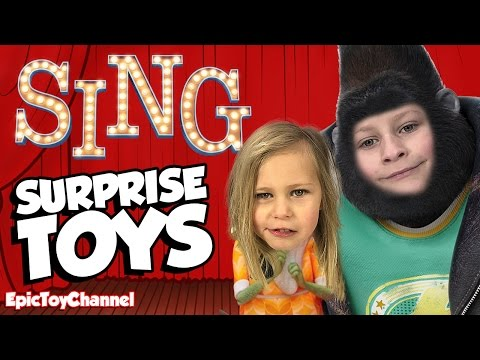 SING MOVIE Toys Review + Silly SING Kid Audition & McDonalds Happy Meal Sing Surprise Toys For Kids