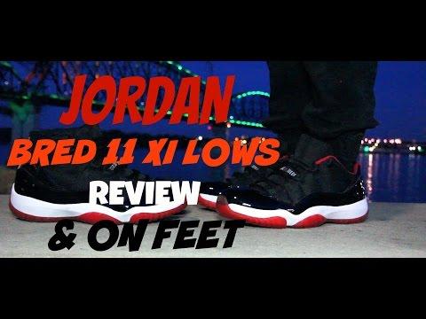 2015 Jordan Bred 11 XI Lows Review & On Feet | True Red | 1080p HD