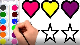 Heart and Star Coloring Pages How to Draw Heart And Star 9 Coloring Pages