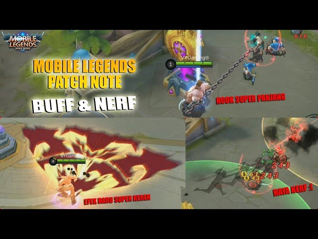 FRANCO HOOK SUPER PANJANG, EFEK BARU BALMOND,HAYABUSA NERF - PATCH NOTE 1.3.02 MOBILE LEGENDS
